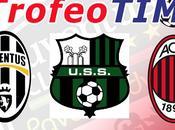 Stasera alle 20,45 antipasto Serie Trofeo Juventus, Milan Sassuolo Canale 5/HD)