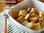 Calamarata coda rospo olive taggiasche pasta with monkfish olives