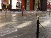 Forte acquazzone Osaka abbassa temperatura