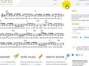 Scorio: scrivere spartiti musicali online
