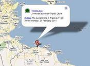 Libia Egitto Bahrein Iran: un'altra mappa della rivolta animata Twitter