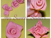 rose divertissement fiori pasta zucchero attrezzi vari
