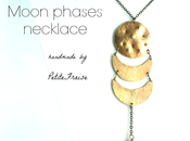 Moon phases necklace brass