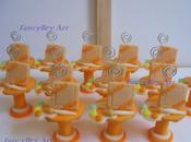 Alzatine portamemo bomboniere pasta mais matrimonio tema pittura (variante maschile)