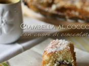 Ciambella cocco cuore cioccolato Coconut pound cake with chocolate heart