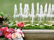 easiest way: bottles, candles romantic atmosphere!