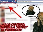 "male oscuro: cartella ""Altro"" Facebook"