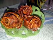 Riciclo natura, rose foglie