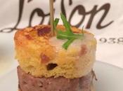 Mini burger salsiccia Panettone fichi Calabria Loison spuma allo zenzero
