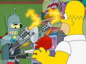 divano crossover Simpson-Futurama