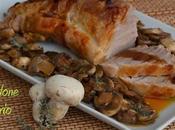 Filetto maiale arrosto funghi