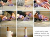 Tutorial: come fare velocemente gomitoli lana easy make yarn balls