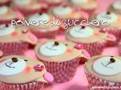 Cupcake decorati: orsetto battesimo bimba