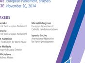 """giovani futuro della leadership: ruolo famiglia genitori nella formazione cittadino responsabile""""- convegno Bruxelles Parlamento Europeo 20-22 novembre 2014"""