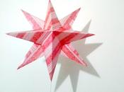 Stella carta come puntale l'albero Natale