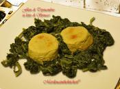Flan topinambur letto spinaci