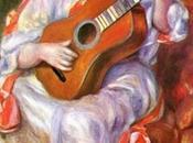 Schema punto croce: Donna chitarra Renoir