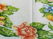 Schema punto croce: Centrotavola fiorito