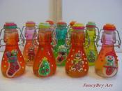 Bottigliette limoncello decorate motivi natalizi pasta mais