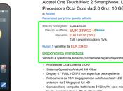 Offerta fine anno Amazon tempo limitato: Alcatel Touch Hero euro