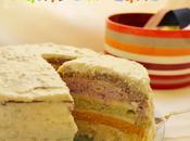 Veggie Rainbow Cake (torta verdure strati multicolor)