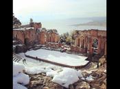 Taormina gennaio 2015 tanta neve