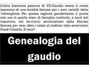 nome toponimo dell'altra bisnonna paterna V.S. Gaudio│
