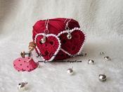 Orecchini Valentino, cuore, realizzati uncinetto.