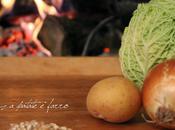 Zuppa verza, patate farro