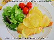 Filetto salmone crosta patate