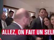 Matteo Renzi incazzare Martin Shulz, fischietta selfie
