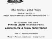 Alcuni appuntamenti Domenico Losurdo Napoli Roma febbraio