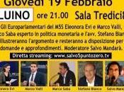 """Luino, """"#Fuoridall€uro"""" giovedì europarlamentari parleranno politica monetaria. Venerdì Sociale Trattativa"""""""