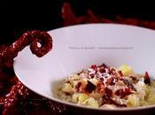 Pasta patate peperoni cruschi ricotta salata tepore, croccantezza gusto