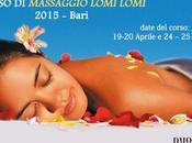 Corso massaggio lomi 2015 bari