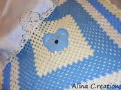 """Copertina neonato all'uncinetto """"GrannyTed"""" Alina C.reations schema"""