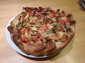 Torta salata carciofi pomodori