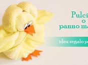 Idea regalo Pasqua: creare pulcino panno microfibra