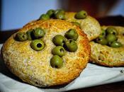 Focaccine integrali alle olive