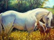 Schemi punto croce: Cavallo nella brughiera