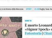 morte Leonard Nimoy volta Corriere apre Renzi! THANK SPOCK, MYTH!
