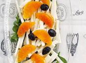 Insalata sedano rapa, arancia olive nere