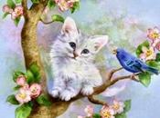 Schema punto croce: Quadretto gattino