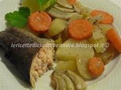 Trota salmonata forno, patate,carote finocchi