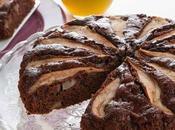 Torta pere cacao, ricca fibre vitamine.