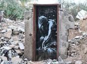 """Ragazzi Gaza """"Venite, aspettiamo graffiti Bansky!"""""""