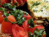 Tortino patate verza pane integrale pomodorini basilico