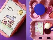 Tutorial: casetta nelle scatole delle uova (seconda parte) dollhouse eggbox (part