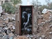 L'arte Banksy macerie Gaza