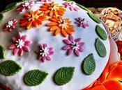 Torta primavera cioccolato panna crema nocciole Piemonte home made Spring chocolate cake with whipped cream hazelnuts from Piedmont